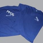 Nadruki na odzieży niebieska koszulka
