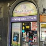 Oklejanie witryn Kraków sklep papierniczy