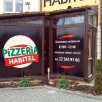 Oklejanie witryn Kraków - pizzeria