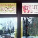 Oklejanie witryn Kraków - kwiaciarnia
