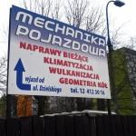 Tablice reklamowe Krakow mechanika pojazdów