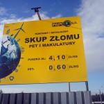 Tablice reklamowe Krakow skup złomu