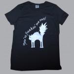 Nadruki na odzieży - czarna koszulka