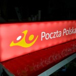 Poczta - reklama świetlna Kraków