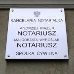 Szyldy Kraków kancelaria notarialna