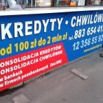 Tablice reklamowe Kraków kredyty chwilówki